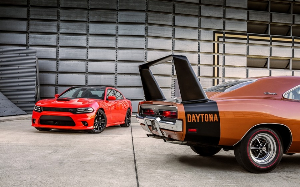 This Comparison Shows The 2017 Charger Daytona With A Vintage 1968 When Model Debuted Photo Courtesy Of Dodge