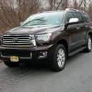 Toyota's 2019 Sequoia is a rugged 3-row SUV that can seat up to eight