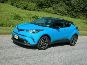 Toyota's 2019 C-HR subcompact crossover, has edgy styling and sporty handling