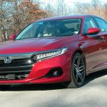 Honda's 2021 midsize Accord sedan can achieve up to 44 mpg with its hybrid powertrain