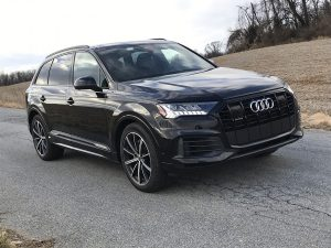 Audi's 2021 Q7 AWD midsize is one of four premier luxury SUVs in their line-up